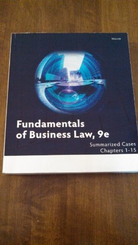 9781285216409: Fundamentals of Business Law: Summarized Cases Chapters 1-15