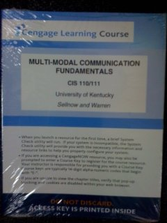 9781285219189: Multi-Modal Communication Fundamentals CIS 110/111 University of Kentucky Cengage Learning Course Access Code