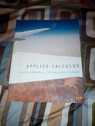 9781285221748: Applied Calculus for the Managerial, Life, and Social Sciences