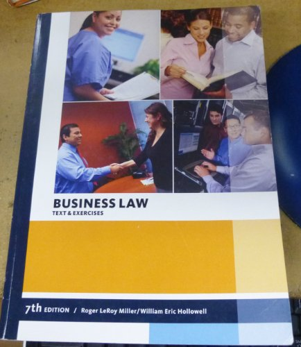 9781285389516: Business Law Text & Exercises Cengage Learning Custom Edition (Business)