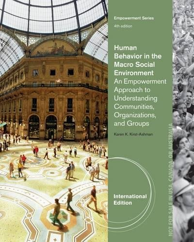 9781285416557: Human Behavior in the Macro Social Environment