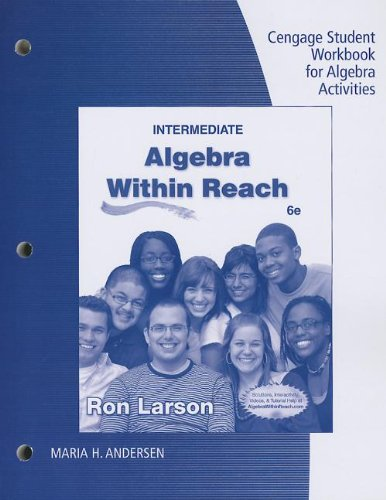 9781285419947: Student Workbook for Larson's Intermediate Algebra: Algebra Within Reach, 6th