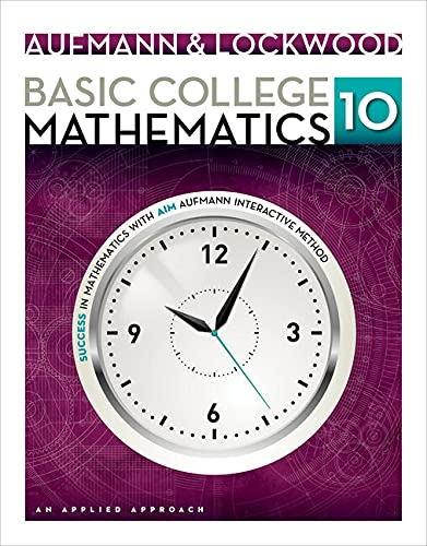 9781285420172: Student Solutions Manual for Aufmann/Lockwood's Basic College Math: An Applied Approach, 10th