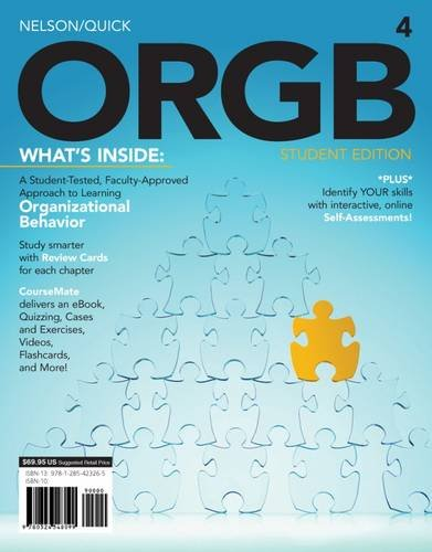 ORGB 4 (with CourseMate Printed Access Card): Nelson, Debra L.,