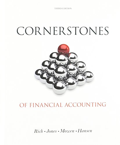 9781285423678: Cornerstones of Financial Accounting