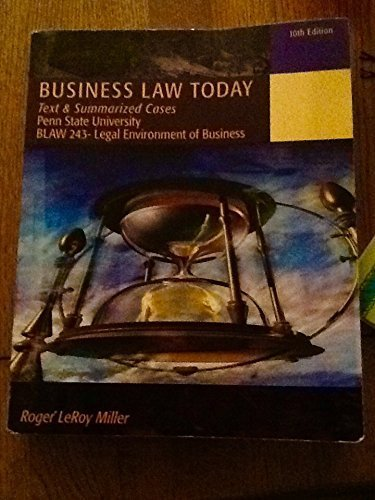 9781285424217: Business Law Today 10th Edition