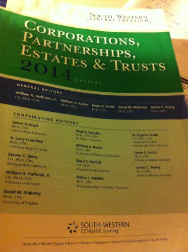 9781285424460: South-western Federal Taxation 2014: Corporations, Partnerships, Estates and Trusts (With H&r Block @ Home) 37th Edition Loose Leaf