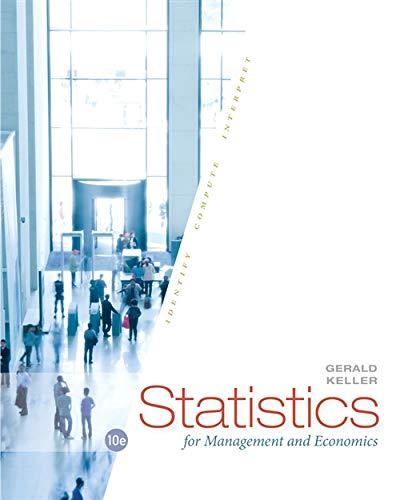 9781285425450: Statistics for Management and Economics