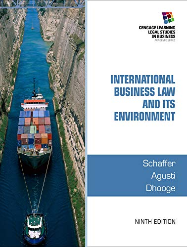 9781285427041: International Business Law and Its Environment