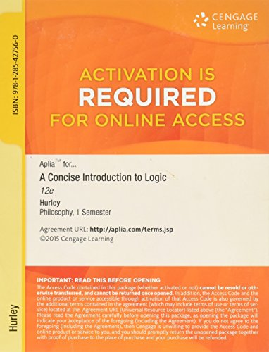 9781285427560: CONCISE INTRO.TO LOGIC-ACCESS CARD