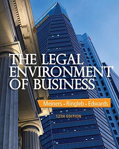 The Legal Environment of Business: Edwards, Frances L.,