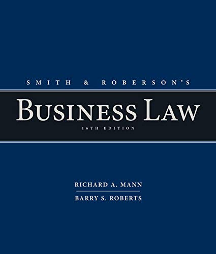 9781285428253: Smith and Roberson's Business Law