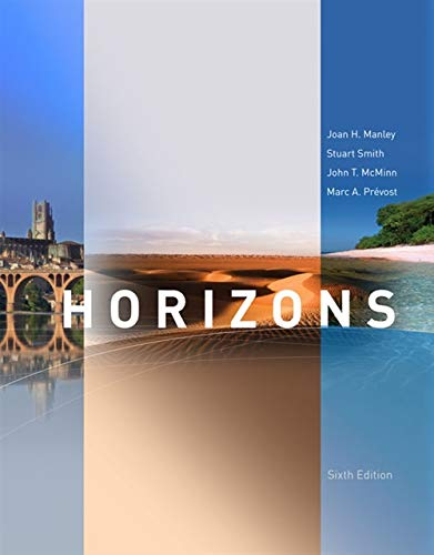 Horizons, 6th Edition (World Languages) (1285428285) by Joan H. Manley; John T. McMinn; Marc A. Prevost; Stuart Smith