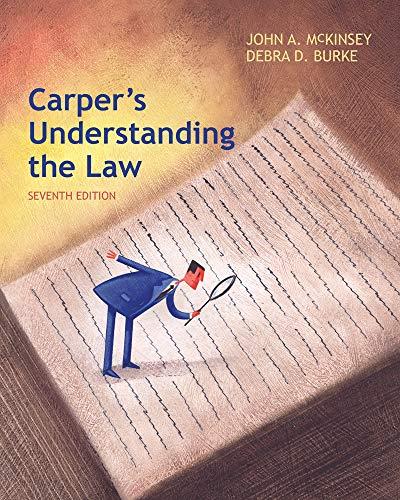 9781285428420: Carper's Understanding the Law