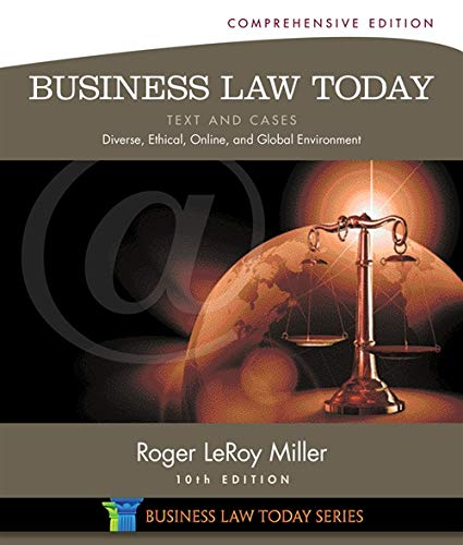9781285428932: Business Law Today, Comprehensive: Text and Cases: Diverse, Ethical, Online, and Global Environment (Miller Business Law Today Family)