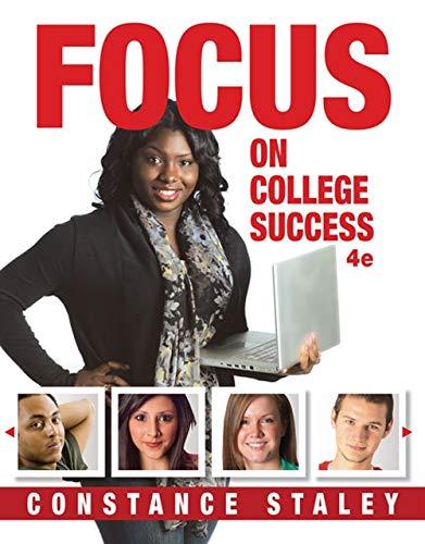 9781285430072: FOCUS on College Success (Textbook-Specific Csfi)