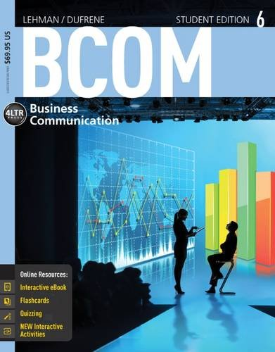 BCOM 6 (with CourseMate Printed Access Card): Lehman, Carol M.,