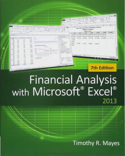 9781285432274: Financial Analysis with Microsoft Excel