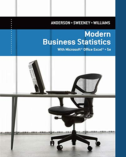 Modern Business Statistics with Microsoft Excel: David R. Anderson,