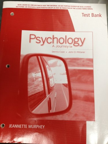 Tb Psychology a Jrny (1285433475) by Coon