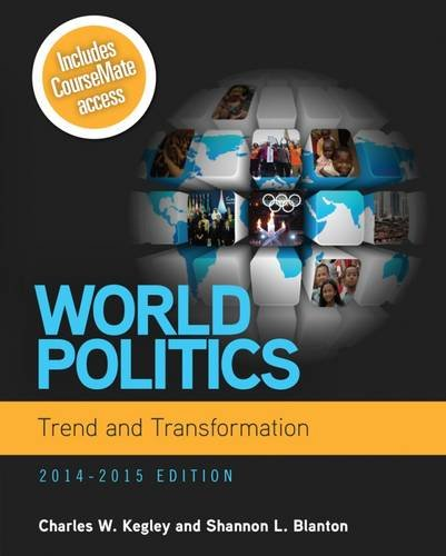 9781285437279: World Politics: Trend and Transformation, 2014 - 2015 (with CourseMate Printed Access Card)