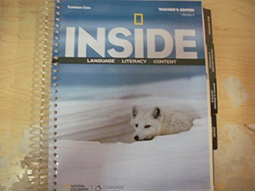 9781285437446: Inside: Language, Literacy, Content: Common Core Teacher's Edition, Volume 2 Level A by National Geographic (2014-05-04)