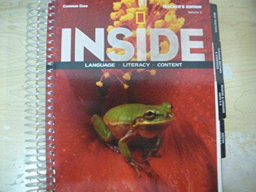 9781285437569: Inside Language, Literacy, Content Common Core Level C Volume 2 Teacher's Edition
