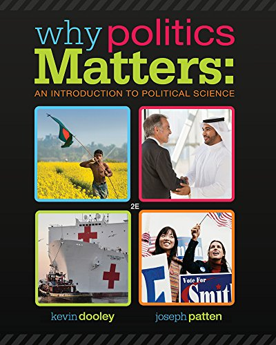 9781285437675: Why Politics Matters: An Introduction to Political Science (Book Only)