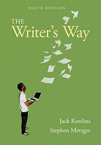 The Writer's Way: Rawlins, Jack; Metzger,