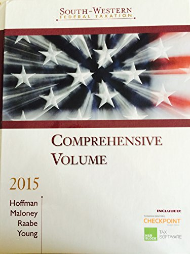 9781285438917: Federal Taxation South Western, Comprensive Volume, 2015 Edition