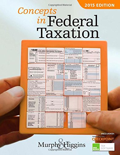 9781285439815: Concepts in Federal Taxation 2015 (with H&R Block™ Tax Preparation Software CD-ROM and RIA Checkpoint 1 term (6 months) Printed Access Card)