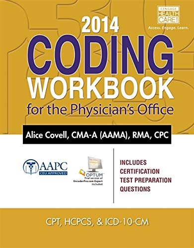 9781285441399: 2014 Coding Workbook for the Physician's Office (with Cengage EncoderPro.com Demo Printed Access Card)