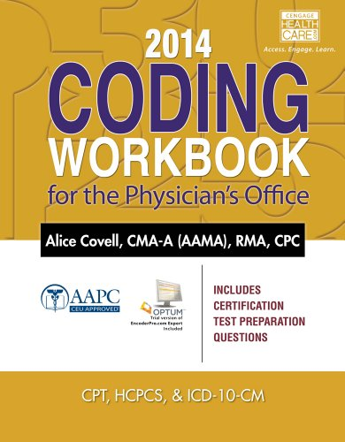 9781285441634: 2014 Coding Workbook for the Physician's Office (Book Only)