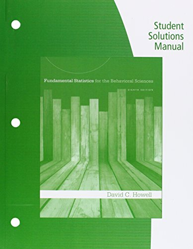 9781285442259: Student Solutions Manual for Howell?s Fundamental Statistics for the Behavioral Sciences, 8th
