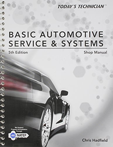 9781285442310: Shop Manual for Hadfield's Today's Technician: Basic Automotive Service and Systems, 5th