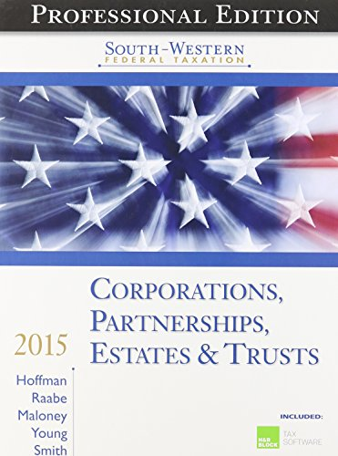 Corporations, Partnerships, Estates & Trusts, Professional Edition [With CDROM] (South-Western ...