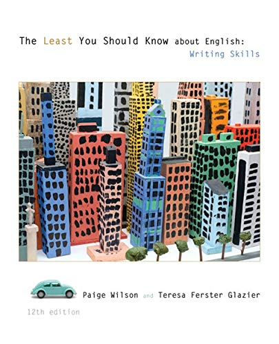 9781285443539: The Least You Should Know About English: Writing Skills
