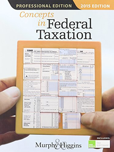 9781285444130: Concepts in Federal Taxation 2015, Professional Edition (with H&R Block™ Tax Preparation Software CD-ROM)