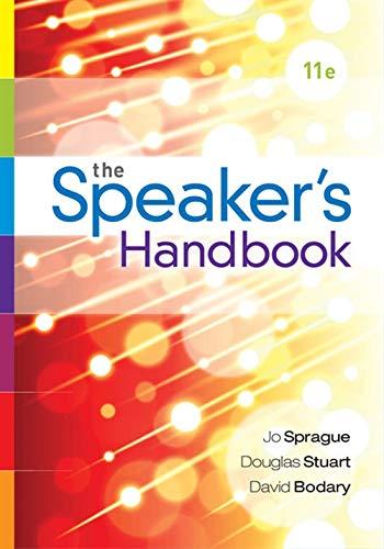 The Speaker's Handbook, Spiral bound Version: Sprague, Jo; Stuart,