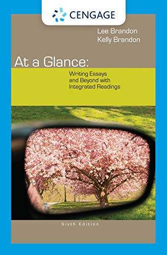 9781285444642: At a Glance: Writing Essays and Beyond with Integrated Readings