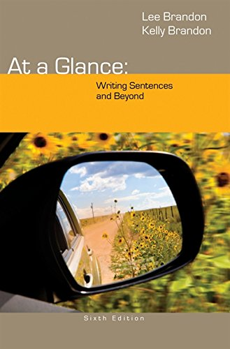 9781285444659: At a Glance: Writing Sentences and Beyond