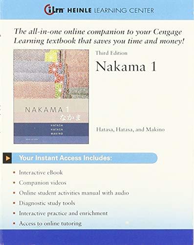 9781285449517: Nakama 1: Instant Access Code