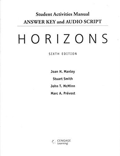 9781285451046: Ans Key Aud Scr Horizons