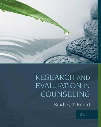 9781285454894: Research and Evaluation in Counseling