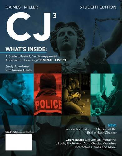 CJ3 (with CourseMate Printed Access Card) (New,: Gaines, Larry K.,