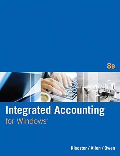 Integrated Accounting (with General Ledger CD-ROM): Klooster, Dale A.,