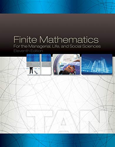 9781285464657: Finite Mathematics for the Managerial, Life, and Social Sciences, 11th Edition
