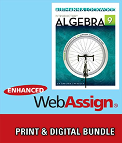 9781285473147: Bundle: Introductory Algebra: An Applied Approach, 9th + Enhanced WebAssign Printed Access Card for Developmental Math, Single-Term Courses
