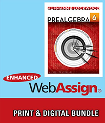 9781285473161: Bundle: Prealgebra: An Applied Approach, 6th +Enhanced WebAssign Printed Access Card for Developmental Math, Single-Term Courses