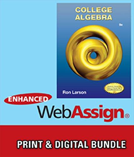 9781285473246: Bundle: College Algebra, 9th + WebAssign Printed Access Card for Larson's College Algebra, 9th Edition, Single-Term